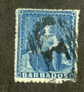 BARBADOS 11 USED MISSING PERF SCV $175.00 BIN $50.00 ROYALTY