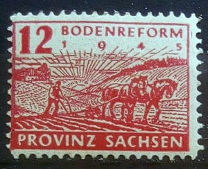 Germany Provinz Sachsen Mi 86 A Plate Flaws mnh