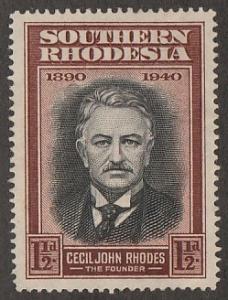 58,unused Southern Rhodesia