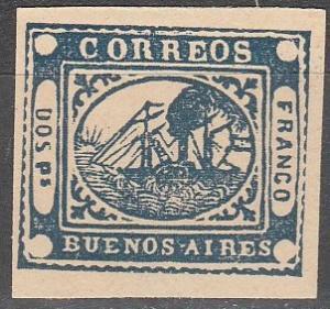 Argentina Buenos Aires #2 CV  $300.00 Reprint  (SU3916)