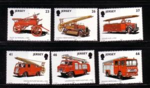 Jersey  Sc 1005-10 2001 Fire Engines stamp set mint NH
