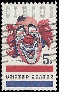 #1309 5c American Circus 1966 Used