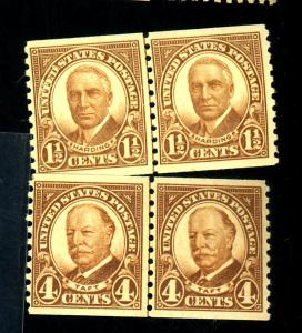 US #686-7 MINT Line pairs F-VF OG NH Cat$33.25