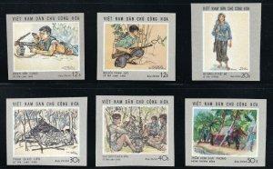 North Viet Nam - 1969 - Sc 546 - 551  - Scenes of War - Imperforation - MNH