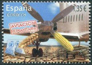 HERRICKSTAMP NEW ISSUES SPAIN Sc.# 4189 Humanitarian Aviation