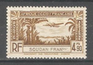 French Sudan 1940,Air Post 4.90fr,Sc C4,VF-XF Mint VLH*OG (K-8)