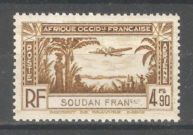 French Sudan 1940,Air Post 4.90fr,Sc C4,VF-XF Mint VLH*OG (K-8)