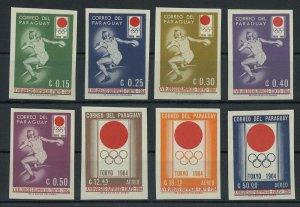 1964 Paraguay 1273-1280b 1964 Olympic Games in Tokio 25,00 €