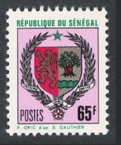 Senegal Arms of Senegal 65f 1970 MNH SG#446b