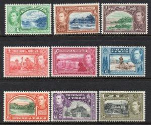 Trinidad Tobago 1938 KGVI p/set (9v.) mint