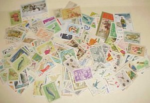 KOREA NORTH 240 DIFF. STAMPS USED