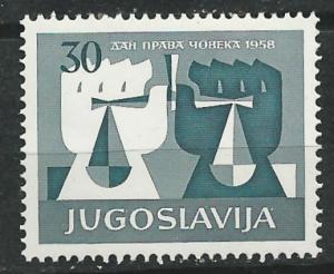 Yugoslavia # 526  U.N.Human Rights   (1) Mint NH