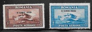 Romania #C7-C8   (MH) CV $16.00