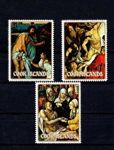 COOK IS - 1973 - EASTER - PAINTINGS - TITIAN - RUBENS - DURER - MINT - MNH SET!