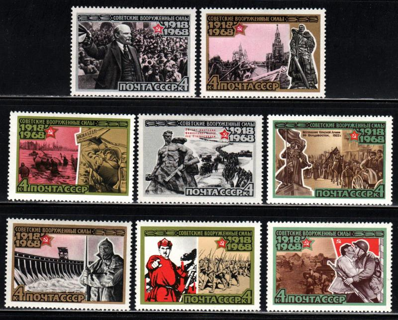 Russia #3439-48 ~ Cplt Set 10 ~ Mint, HMR