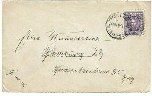 Venezuela 1912 Simon Bolivar cancel on cover to Germany, franked Scott 254