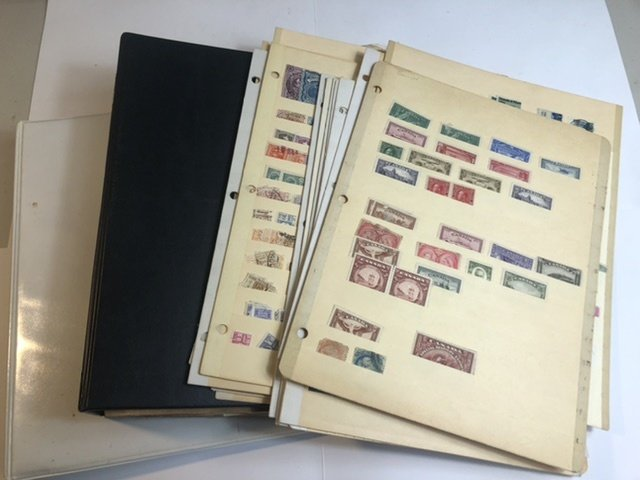 2 Binders 1 With Congo + Lots Of Stock Pages Full Of Stamps Might Find Some Gems