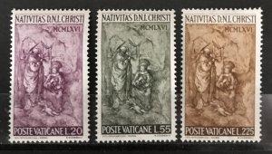 Vatican City 1967, #445-47, MNH, CV $.75