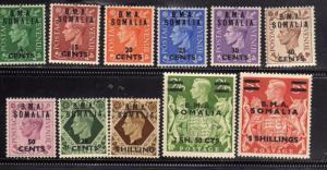 SOMALIA BA 1950 B.M.A. FRANCOBOLLI DI GRAN BRETAGNA GREAT BRITAIN BMC COMPLET...