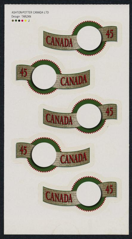 Canada 1568-9 pane from BK182 MNH Greetings