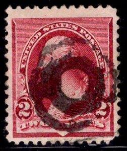 US Stamp #219D 2c Lake Washington USED SCV $5.50