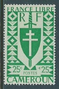 Cameroun, Sc #284, 25c, MH
