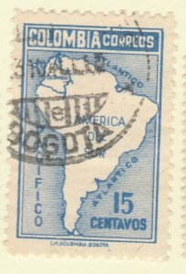 Colombia 1946 15c Fine Used A8P55F108