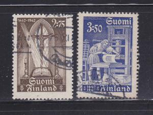 Finland 241-242 Set U Printing of First Bible in Finnish (A)