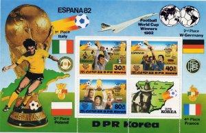 North Korea. 1982. bl124. Football. MNH.