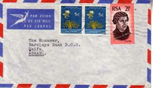 South Africa, Airmail, Flowers
