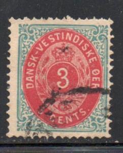 Danish West Indies Sc 6 1874 3 cent stamp used