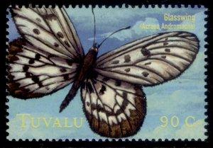 TUVALU QEII SG914, 90c 2000 south pacific butterflies, NH MINT.