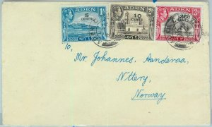 90552 -  ADEN - POSTAL HISTORY -   COVER from ADEN CAMP to NORWAY! 1950'S