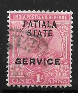 India Patiala O31: 1a George V, used, F