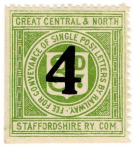 (I.B) Great Central & North Staffordshire Railway : Letter 4d on 3d OP