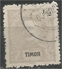 TIMOR, 1898, used 1/2a  King Carlos Scott 53