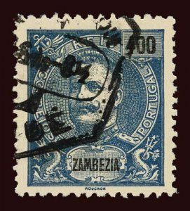 ZAMBEZIA Scott #33 1903 King Carlos used, couple of short perf teeth