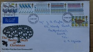 Great Britain 1977 Christmas Stamps FDC