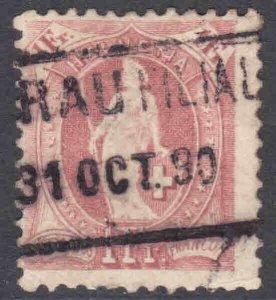 SWITZERLAND 87b SLOGAN CANCEL F $350 SCV