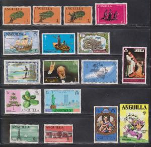 ANGUILLA Lot Of MH Stamps - Nice Variety