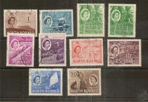 North Borneo 1954-61 Fine Used Definitives to $1 (23v)