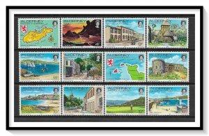 Alderney #1-12 Complete Definitive Set MNH