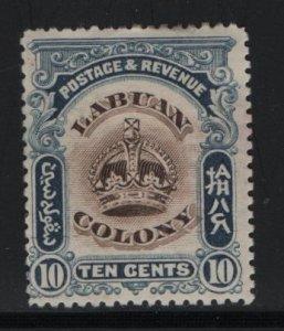 LABUAN, 103, HINGED, 1902-1903, CROWN