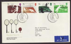 Great Britain 802-805 Sports 1977 Typed FDC
