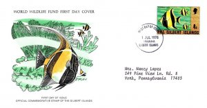 Worldwide First Day Cover, World Life Fund, Gilbert & Ellice Islands