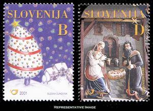 Slovenia Scott 473-474 Mint never hinged.
