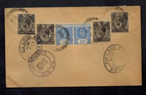 1922 Penang Straits Settlement Singapore Cover to USA
