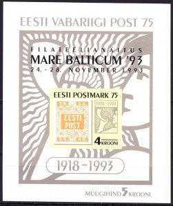 Estonia. 1993. bl6. Stamps on stamps philately. MNH.