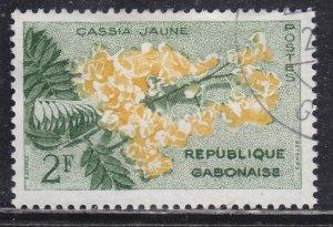 Gabon 156 Yellow Cassia 1961