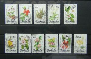 Barbados 1989 Wild Flowers values to $10 Used